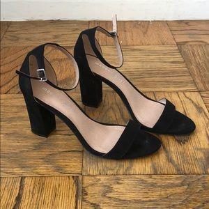 Black Madden Girl ankle strap heels